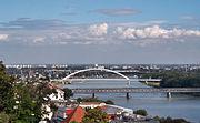 Drei weitere Brücken: Alte Brücke, Apollo-Brücke, Hafenbrücke (von vorne nach hinten)