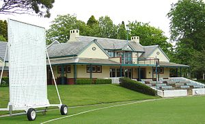 Bowral - The Bradman Oval, pavilion and museum at Bowral, NSW
