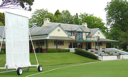 The Bradman Oval, pavilion and museum at Bowral, NSW Bradman Oval.jpg
