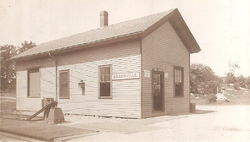 Braggville Depot and Post Office, c. 1919