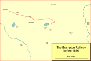 Brampton Railway - The first line of the Brampton railway