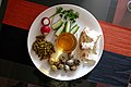 Breakfast with peas and quail eggs, Rostov-on-Don, Russia.jpg