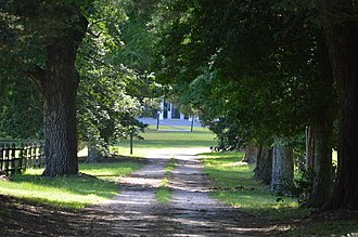 National Register of Historic Places listings in Brunswick County, Virginia - Image: Brick House driveway from Broadnax Road