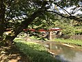 Bridge of Yamaguchi Line on Tsuwanogawa River from Yasaka Shrine.jpg
