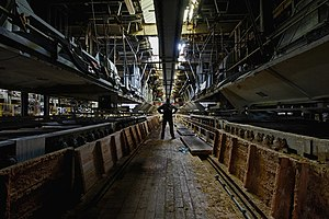 British Cellophane - The interior of the factory
