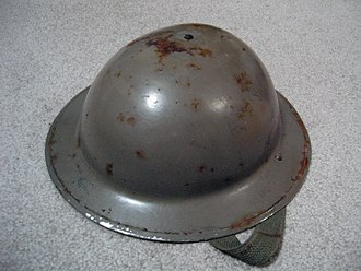 Kettle hat - A British Mark II steel kettle helmet as issued in the Second World War