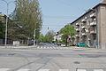 Brno-Cerna Pole - Mathonova ulice, vyfotografovana z krizovatky s Provaznikovou ulici, pohled k severu.jpg