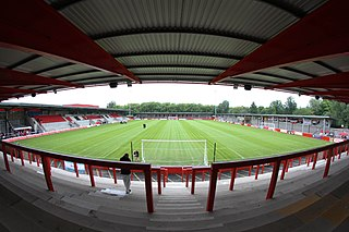 Broadhurst Park football ground in Manchester, England