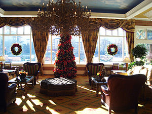 The Broadmoor - Broadmoor Hotel interior, decorated for the holidays