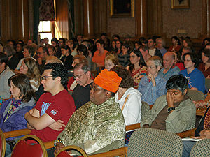 Audience - An audience at the Brooklyn Book Festival in New York City.