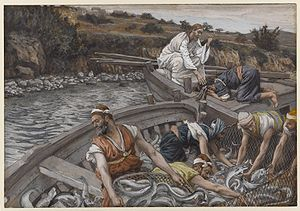 Luke 5 - James Tissot, The Miraculous Draught of Fishes, Brooklyn Museum