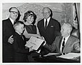 Bruce Burstein receives Pedestrian Lifesaving Campaign certificate from Mayor John F. Collins (13847327674).jpg