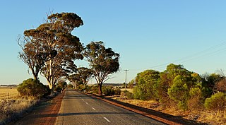 Major roads in the Wheatbelt region of Western Australia