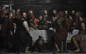 Pieter Pourbus - The Last Supper, 1562, Church of Our Lady, Bruges