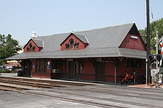 Brunswick, Maryland - The historic Baltimore and Ohio Railroad Station (1891), one of the city's landmarks.