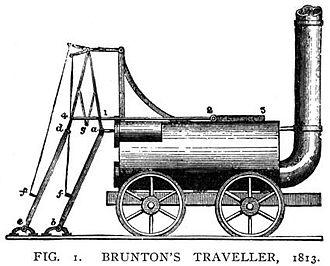 Steam Horse locomotive - Brunton's Mechanical Traveller