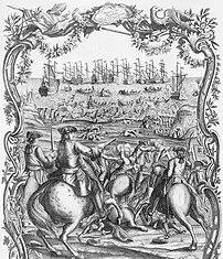 Defaites des Anglois à l'Ance de St Caste par Mr le duc d'Aiguillon, estampe de Nicolas Ozanne (1758, Bibliothèque nationale de France). (définition réelle 5895×6859)
