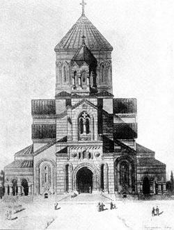 Budagovsky armenian temple in Baku2.jpg