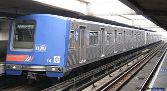 São Paulo Metro - Train 114, or A14 in current nomenclature (14/51 of its model). Goes from A141 to A146).