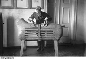 Pommel horse - An early pommel horse