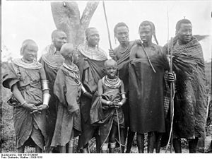 Tarangire Ecosystem - Picture of Massai from early 1900s