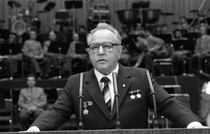 Main Directorate for Reconnaissance - Mielke addressing the SV Dynamo, March 25, 1983.