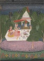 Ragini Bhairavi,  an illustration from a Ragamalaserie