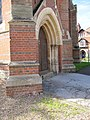 Buttress by the door - geograph.org.uk - 2087366.jpg