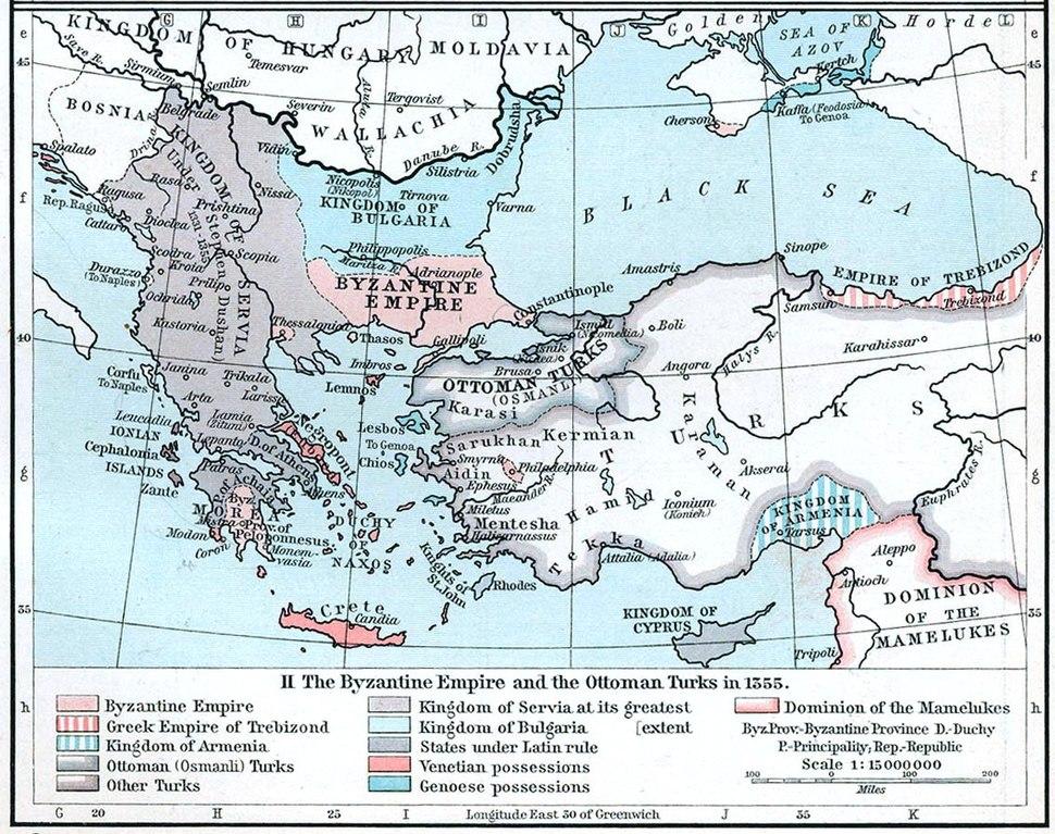 Byzantine empire 1355