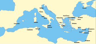 Byzantine mints - Byzantine mints at the time of Justinian I (mid-6th century)
