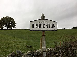 Broughton-in-Furness - Signage on C5009 into Broughton-in-Furness with the old A595 designation still visible