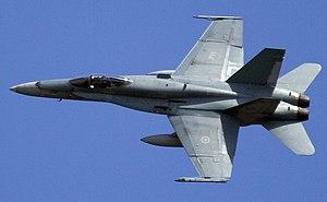 Multirole combat aircraft - Image: CF 188A BANKING