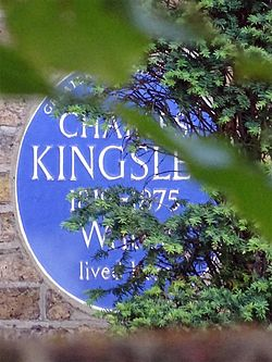 Charles kingsley 1819 1875 writer lived here