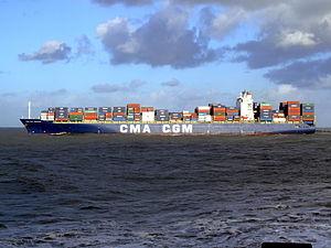 CMA CGM Debussy p6, leaving Port of Rotterdam, Holland 21-Jan-2007.jpg