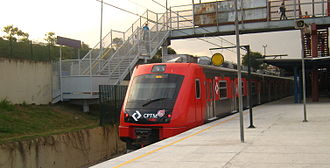 Rail transport in Brazil - Train of CPTM in Greater São Paulo.