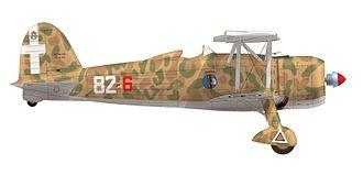 Fiat CR.42 - A CR.42, 82a Squadriglia 13° Gruppo 2° Stormo. C. T., Gambut airfield, September 1940