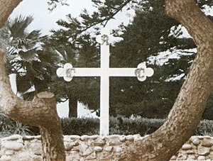 Mount Ecclesia - The Teacher later suggested to Max Heindel that the Founders' Cross be changed to white in order to avoid unfortunate associations.