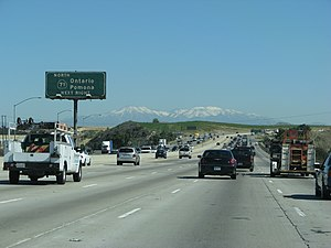 California State Route 91 - Eastbound 91 just before State Route 71