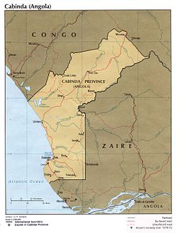 Territory claimed by the Republic of Cabinda