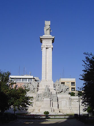 Siege of Cádiz - A monument in Cádiz to the Cortes and the constitution drawn up during the siege.