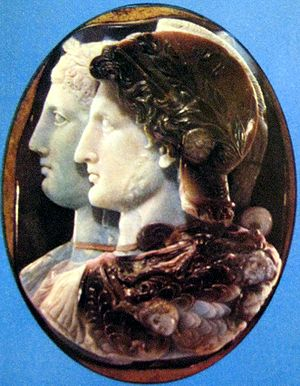 Cameo Gonzaga/ Камея Гонзага. Ptolemy II and A...
