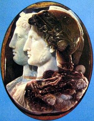 "Arsinoe II - ""Cameo Gonzaga"", Hermitage"