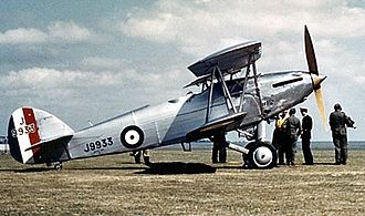 South African Air Force - A Hawker Hart, one of the earliest fighters for South Africa