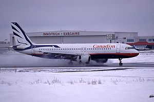 Canadian Airlines - Airbus A320 at Ottawa Macdonald-Cartier International Airport in 2001