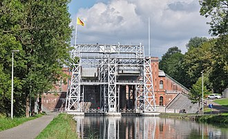 Boat Lifts on the Canal du Centre - Image: Canal du Centre Ascenseur no 1, Houdeng Goegnies (DSCF7857)