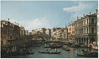 Canaletto - The Grand Canal looking North-East from the Palazzo Dolfin-Manin to the Rialto Bridge.jpg