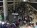 Canary wharf tube station on marathon day.jpg
