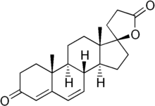 Skeletal formula of canrenone