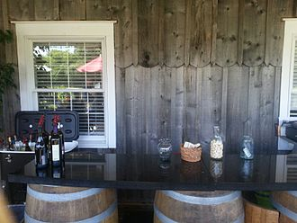 Cape May Winery & Vineyard - Cape May Winery has a deck with an outdoor tasting bar.