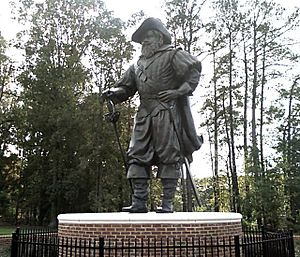 Jamestown supply missions - Statue of Christopher Newport at the university bearing his name